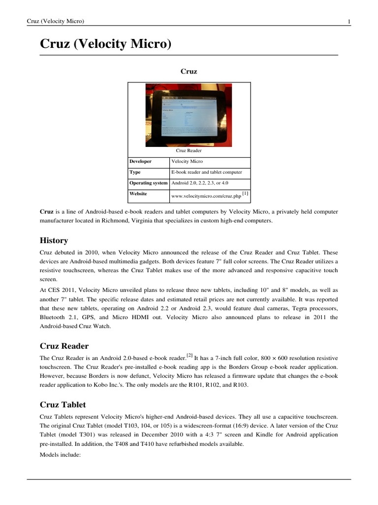 Surprising Cruz Velocity Micro Tablets Guide Mobile Computers Download Free Architecture Designs Xaembritishbridgeorg