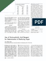 401070 Use of Dinitrosalicylic Acid Reagent for Determination of Reducing Sugar