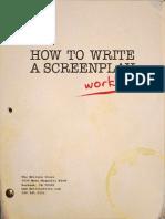 How to Write a Screenplay Workbook Final