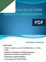 Desarrollo de La Etapa Escolar y Adolescente