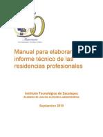 58516 13270 Manual Para Informe de Residencias2