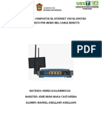 Manual para compartir el internet con el router inalámbrico