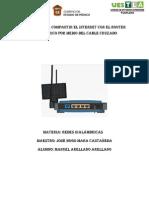 Manual para compartir el internet con el router inalámbrico por medio del cable CRUZADO