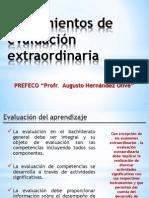 LINEAMIENTOS DE EVALUACIÓN EXTRAORDINARIA