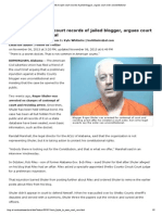 2013-11-06 ACLU Fights to Open Court Records of Jailed Blogger