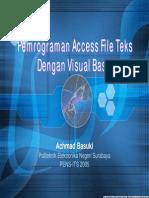 Pemrograman Access File Teks