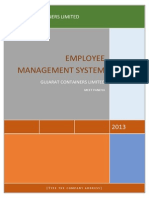 DOCUMENTATION of Employee Management System