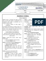 REGÊNCIA DOS VERBOS - 2001