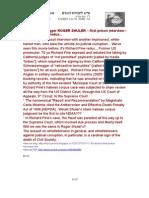 13-11-30 Alabama blogger ROGER SHULER – first prison interview - so Richard Fine redux....