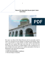 Biography of Hazrat Mir Shujauddin Hussain Qaderi Saheb Hyderabad