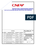Installation and instruction manual for crystalline modules