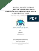 Analisis Pengaruh Kapasitas Fiskal