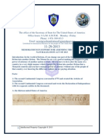 Memorandum in Support to Amend the Uniform Naturalization Act of 2013