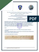 Memorandum in Support to Amend the Uniform Naturalization Act of 2013