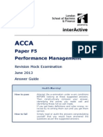 ACCA F5 Revision Mock June 2013 ANSWERS Version 5 FINAL at 25 March 2013