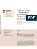 Maxwell Et Al 2008 Sample Size Planning and Statistical Power and Accuracy in Parameter Estimation