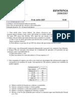 Frequência Estatística EA e PC - 19 Junho 07