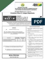 E12-P - Professor Nível 2 - Lingua Espanhola