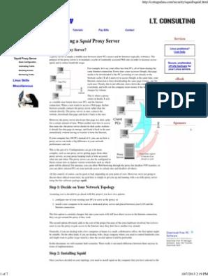 Squid Proxy Server Tutorial | Proxy Server | Port (Computer