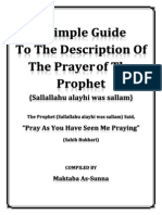 A Simple Guide ToThe Description of the Prayer OfThe Prophet SAWS