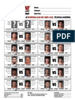 UPDATED MMA UFC 102 Fight Card