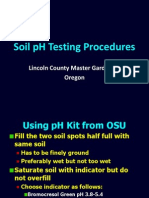 Soil Ph Testing Procedures