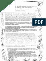 Acta de acuerdo del Grupo Nacional de Coordinación para el Desarrollo de los Pueblos Amazónicos