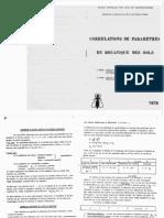 Corrélations paramètres de sol - Biarez & Favre 1976