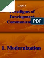 Paradigms of Development Communication2