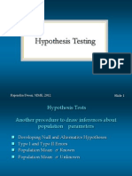 Hypothesis Testing - 1