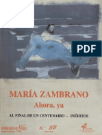 Maria Zambrano Ahora Ya