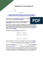 Solución de sistemas de ecuaciones en Excel