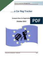 Lighthouse - European New Car Registrations - 2013 - October