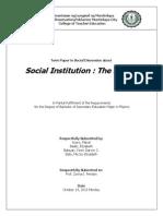 Term Paper in Social Dimension