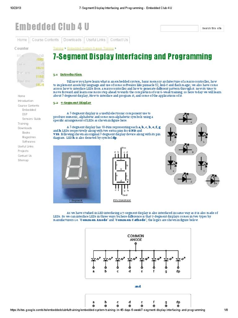 7-Segment Display Interfacing and Programming - Embedded Club 4 U