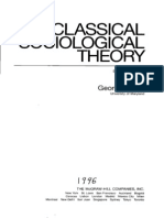Classical Sociology Theory by George Ritzer
