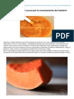 Bollibollipentolino.com-Pastina Con Crema Di Zucca Per Lo Svezzamento Dei Bambini