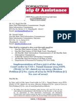 RTIFED Correspondence - 056 - 29 Nov 2013 - SC Judgement - Para 32