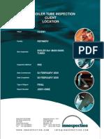 IRIS - Boiler Tubes Inspection Report