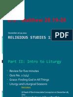 Liturgy and Liturgical Seasons