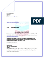 Chevron Oil Company Appointment Letter