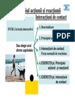 Principiul Reactiunii Si Interactiuni de Contact