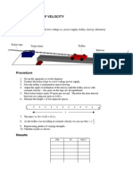 Measurement of Velocity and Acceleration