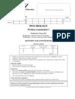 2011 Psychology Exam 1