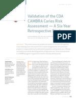 12-2-CDA Validation CAMBRA Oct2011
