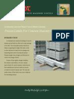 Precast Concrete Masonry Lintels