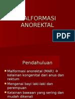 malformasi anorectal