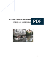 SF Conflict Management in Teams and in Organisations Rev. 2008