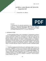 La literatura jurídica como fuente del derecho inquisitorial