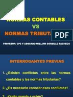 Normas Contables vs Normas Tributarias